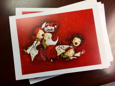 10 Dr. Clown Christmas cards